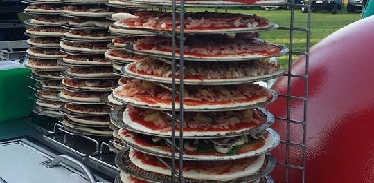 Roam'in Pizza Party Catering Brisbane Pizza Tower