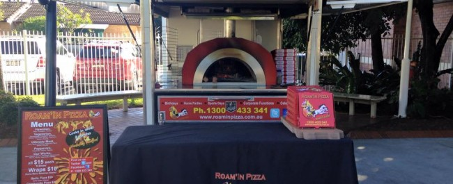 Mobile Woodfired Pizza Oven Roam'in Pizza Brisbane