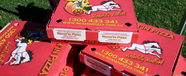 Roam'in Pizza Wood Fired Pizza Boxes Brisbane
