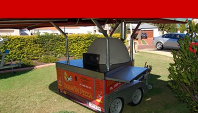 slider mobile pizza catering Brisbane by Roam'in Pizza